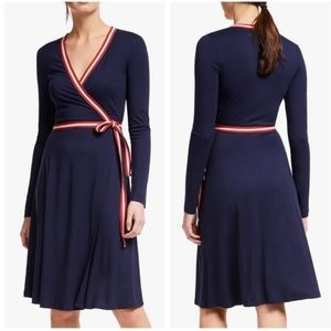 Boden Cara Jersey Wrap Dress in Navy